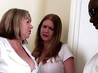 Agedlove Two Horny Nurses And Ample Black Manmeat