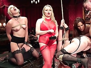 Fuckfest-appeal Mistress Syren De Mer Penalizes Vulvas Of Two Tied Up Chicks