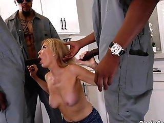 Black And Tattooed Fellas Gangbanging A Horny Mummy Erica Lauren