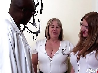 Fresh Black Medic With Phat Fuckpole Is Attempted By Two Hot Matures Nurses