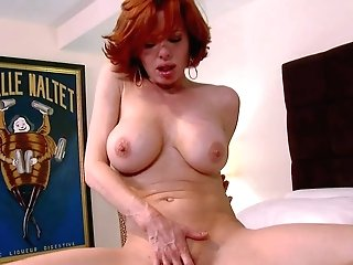 Orgy Starved Crimson-haired Mom Veronica Avluv Takes Off Her Undies