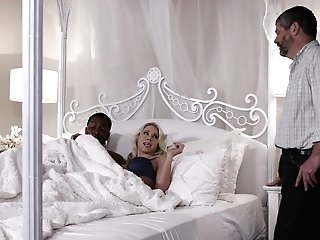 Chesty Blonde Wifey Katie Morgan Rails A Big Black Cock While Hubby Sees