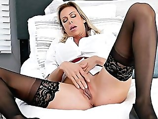 Alexis Fawx Wearing Stockings Being Penetrated Adorably - Hd