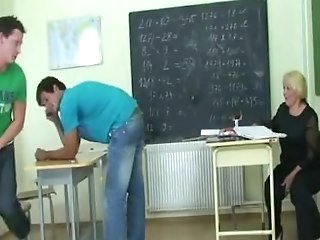 Two Horny Pupils Bang Old Instructor