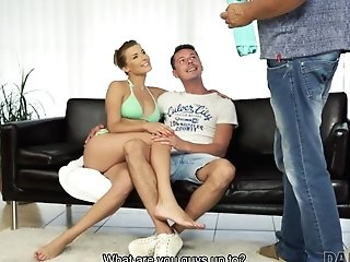 Daddy4k. Nice Lovemaking Of Dad And Youthful Gal Concludes With Jizz Flow...