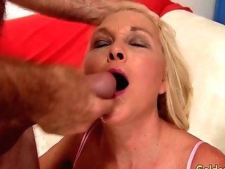 Granny Sara Skippers Delights Her Man