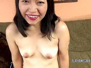Asian Biotch Yuka Ozaki Is On Her Knees And Sucking Dick