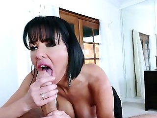 Mummy With Amazing Tits Guzzles Jizz After A Mind Deep Throating Ass-fuck