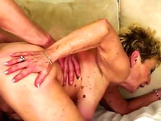 Matures With Gigantic Tits Milks Spunk Loaded Meat Stick Of Her Paramour