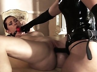 Perverted G/g Fuck-a-thon With Sexually Compulsive Mistress Melody Jordan