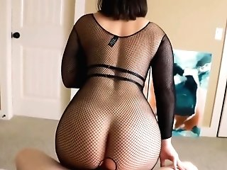 Fishnet Point Of View Oral Internal Cumshot
