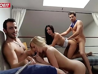 Letsdoeit - Two Spanish Guys Share Teenager Gfs