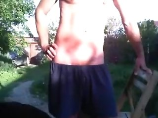 Amazing Homemade Clip With Dark-haired, Outdoor Scenes