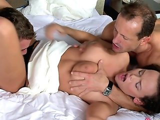 Amazing Superstars George, Steve, Linette In Exotic Threeways, Romantic Fuck-a-thon Clip