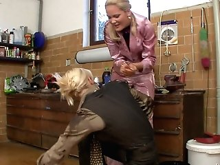 Two Trampy Clothed Lesbos Get Messy And Fondle Each Other