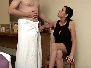 Uk Cfnm Honey Wanking Hard-on After Pussyplay