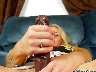Greatest Pornographic Star In Horny Faux-cocks/playthings, Onanism Lovemaking Flick
