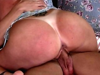 Ginger-haired Darla Crane With Gigantic Melons Gets Her Mouth Ruined By Joey Brass's Fuck Stick