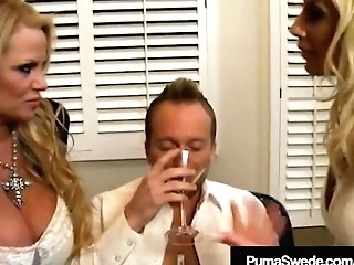 Swedish Starlet Puma Swede & Kelly Madison Deep-throat Hubby!
