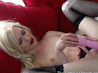 Real Female Ejaculation As Bashful Lizzy Masturbates To Two Pulsing Orgasms