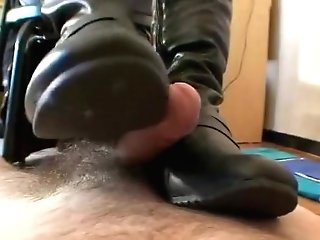 Footjob With Boots