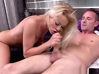 Dick Blowing And Railing Blonde Feet Fucked