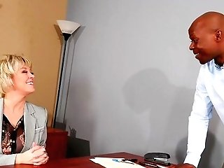 Matures Is Ready For Her Big Dose Of Big Black Cock At The Office