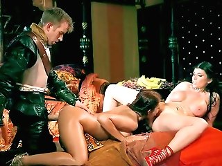Spunk-pump Sharing Extra Delight With Two Whores