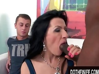 Do The Wifey - Cuckolds Watching Their Wives Suck A Big Schlong Compilation Ten