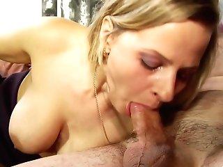 Blonde Beauty Marina Myatlev Gobbling Her Dude's Ball Sack And Asshole