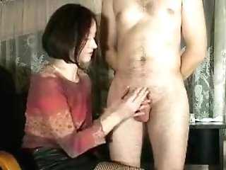 Enticing Dark-haired Housewife Pleases Her Hubby With A Skil
