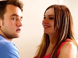 Step Mom And Nubile Love Fellating Big Pulsating Man Rod