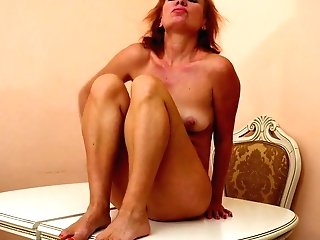 Older Blondie Housewife Silvia Can't Manage Her Libido And Masturbates Coochie