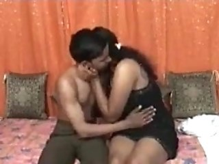 Indian Desi Bhabhi With Junior Boy