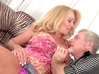 During Hot Fuck-fest, Dalny Marga's Tits Are Squeezed, And Her Booty Is Tongued