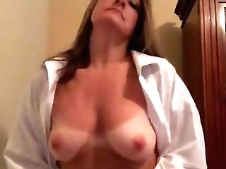 Milf Tan Lines Stripping Masturbation