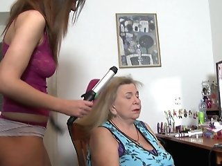 Matures Girl-on-girl Granny Darla Gets Her Labia Ate By Gabriella D.