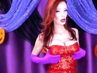 Shanda Fay As Jessica Rabbit For Slutty Halloween Solo!