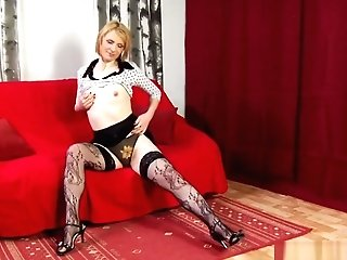 Dirty Blonde Mummy Blows And Rims Him