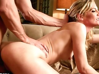 After A Good Vulva Gobbling Horny Mona Wales Is Ready For Hard Threesome
