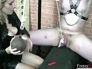 Matures Mistress Dominika Is Penalizing A Dick Of One Tied Up Man