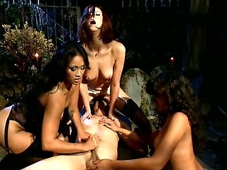 Divine Bitches Enjoy Their Sensual Cock Party