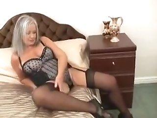 Hot Obese Granny Fucks Her Moist Fuck Hole