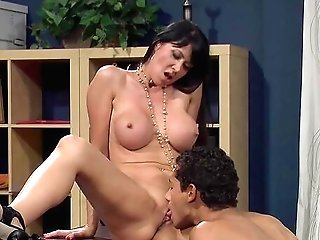 Big-boobed Office Cougar Leaves The Black Manager To Bang Her Good
