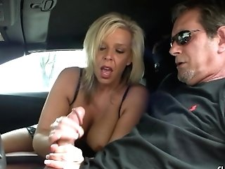Unexperienced Wifey Loves To Flash Her Massive Tits And Delights Her Man