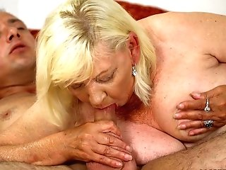 Blonde Granny Irene Chatted A Fabulous Man Into Fucking Her