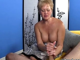 Aunt-in-law Tracy Milks Billy - Over40handjobs