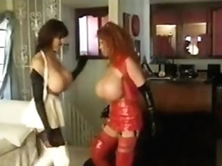 Baloon Sized Funbag Catfight