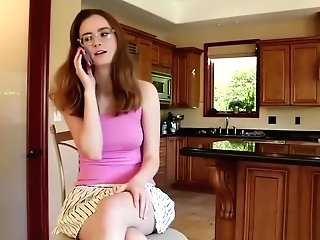 Horny Mom Tempts Her Nerdy Stepdaughter