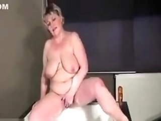 Horny Big-chested Matures Is Wanking